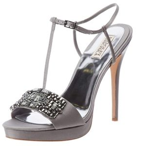 Badgley Mischka Amara High Heel Sandals in Grey